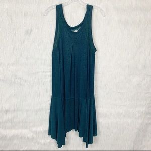 Free People Make it Count Green Lace Dress-Large